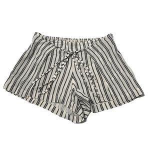Billabong Gauzy Black & White Wrap Shorts XS